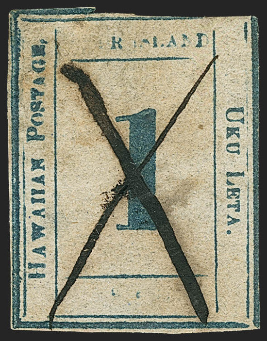 The Hawaiian numeral issue was released in 1859
