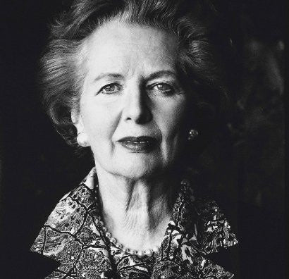 Helmut Newton Thatcher photograph
