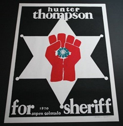 Hunter S Thompson sheriff poster auction collectible