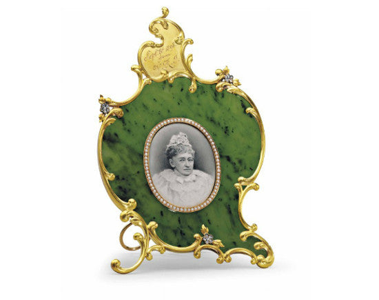jewelled nephrite frame
