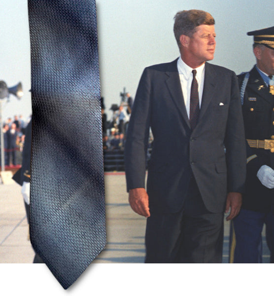 A John F. Kennedy owned and worn silk necktie
