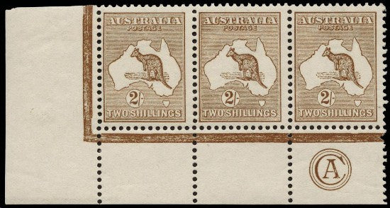 Kangaroo stamps shilling strip