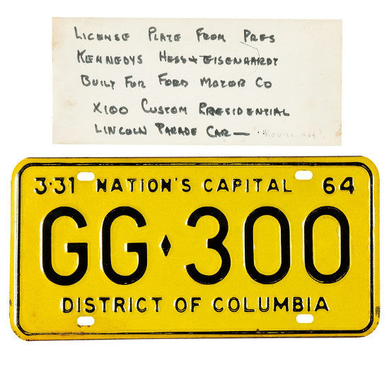 Kennedy license plate