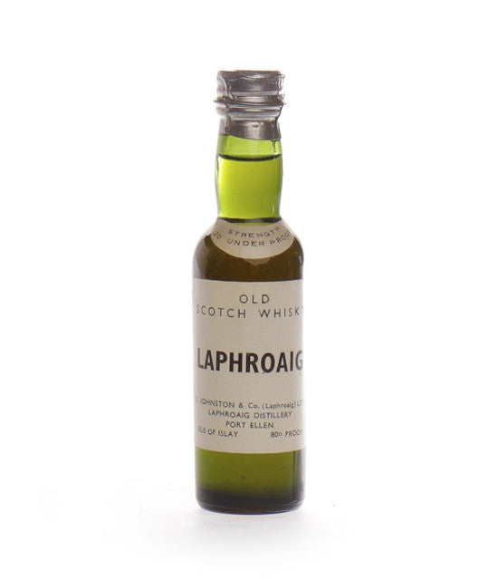 Laphroaig mini bottle