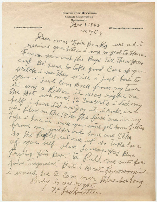 Leadbelly letter goldin