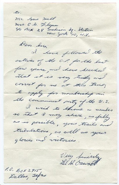Lee Oswald letter Weiss