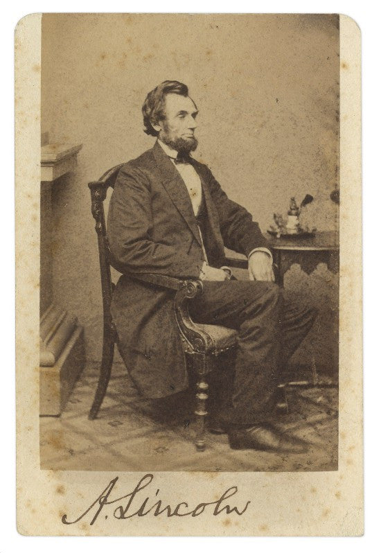 Lincoln signed photograph