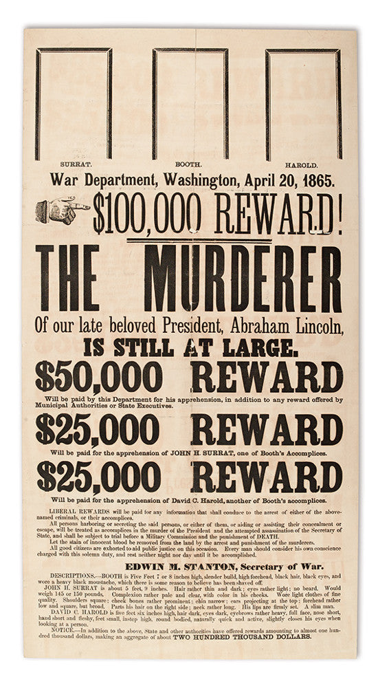 Lincoln Wanted poster
