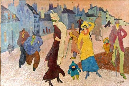 Lyonel Feininger painting controversy