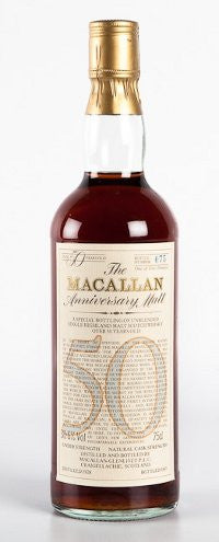 Macallan 50 year old whisky