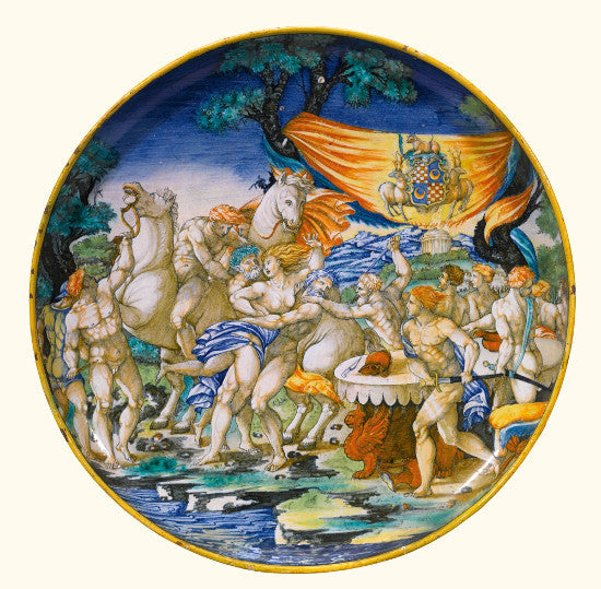 maolica dish Apollo