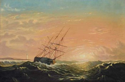 Mellen Ship at Sea