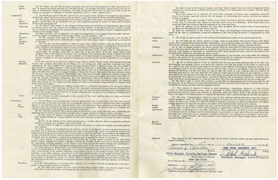 Mickey Mantle contract