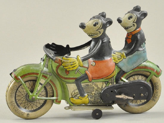 Mickey Minnie motorbike