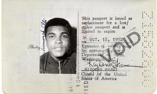 Muhammad Ali passport