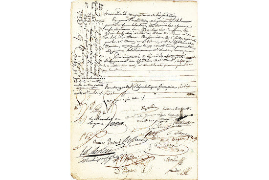 Napoleon marriage certificate