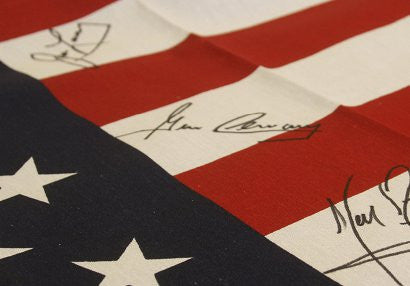 Neil Armstrong autographed flag