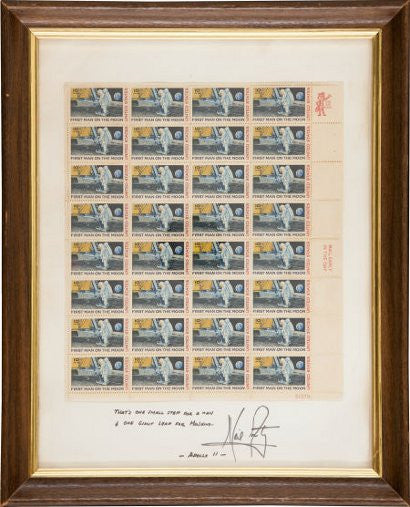 Neil Armstrgon signed stamps