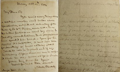 Nelson letter auction