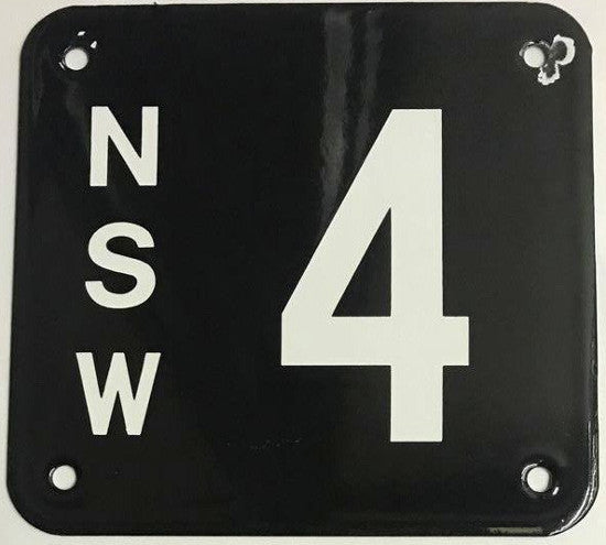 NSW 4 plate