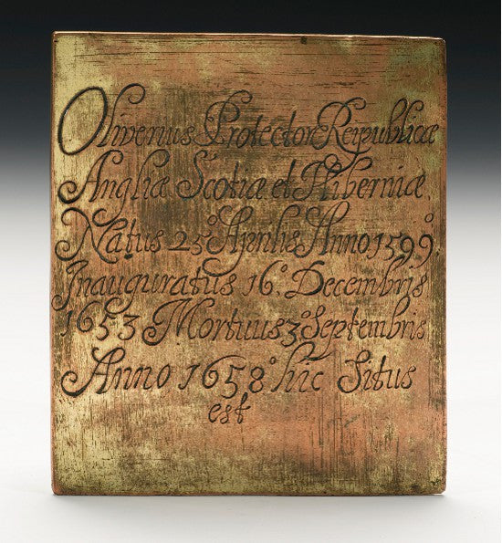 Cromwell plaque sothebys
