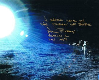 Alan Bean, signature