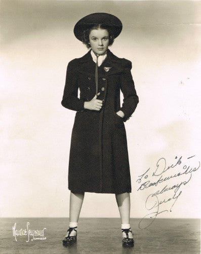 Judy Garland, signed photograph