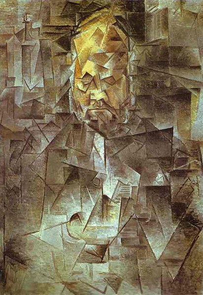 Pablo Picasso's cubist painting of Ambroise Vollard