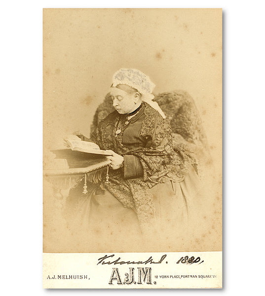 A Queen Victoria signed photograph