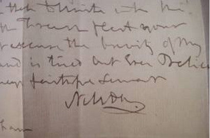 rare-lord-admiral-nelson-letter
