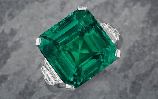 Rockefeller emerald Christies