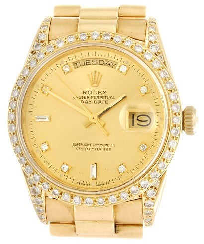Rolex Oyster diamond gold