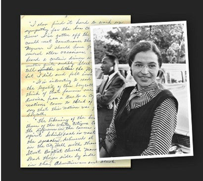 Rosa Parks notes auction