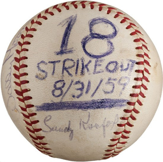 Sandy Koufax strikeout ball