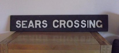 Sears Crossing sign