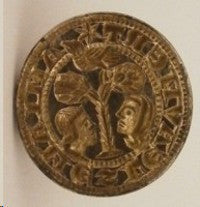 Medieval silver gilt seal matrix