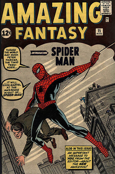 Spiderman's debut comic