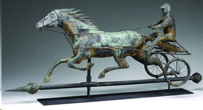Sulky weathervane auctions for $20,000