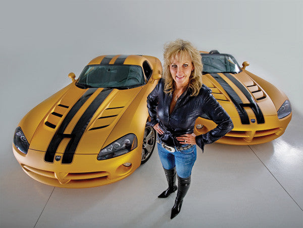 Tammy Allen with her gold Hurst Vipers