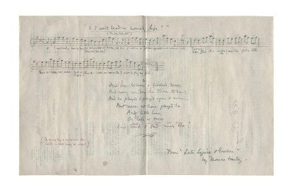 Thomas Hardy musical manuscript auction