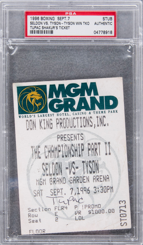 Tupac Shakur boxing ticket