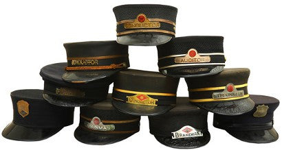 vintage railroad employee caps