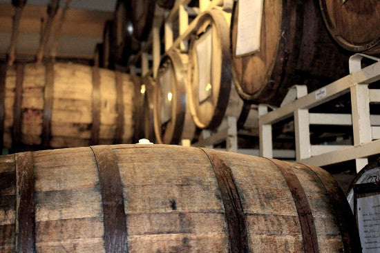 Whisky barrels stock