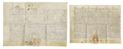 William Penn letters Bonhams