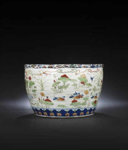 Wucai fishbowl Bonhams