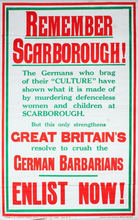 WW1 poster Scarborough
