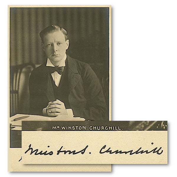 A signed photograph of Winston Churchill taken in 1904
