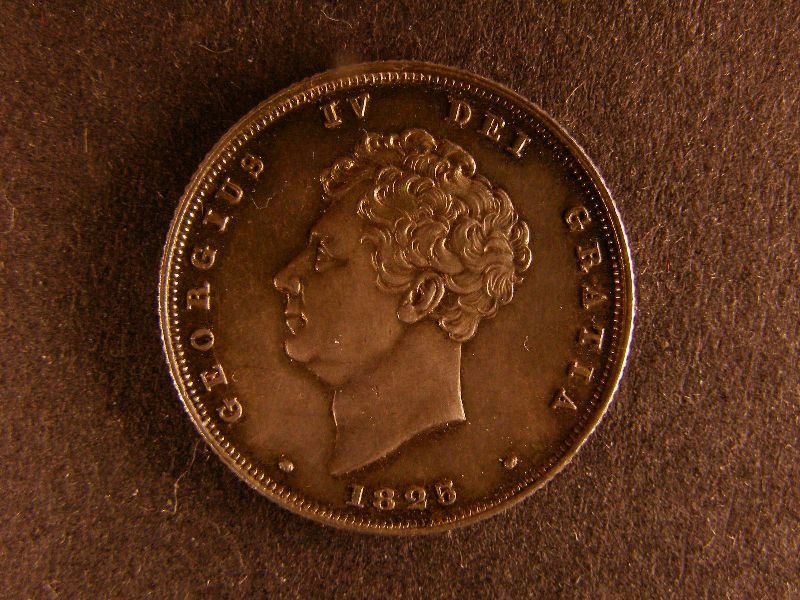 Shilling George IV 1825 Lion on Crown