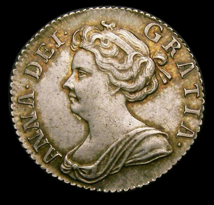 Sixpence Anne 1707