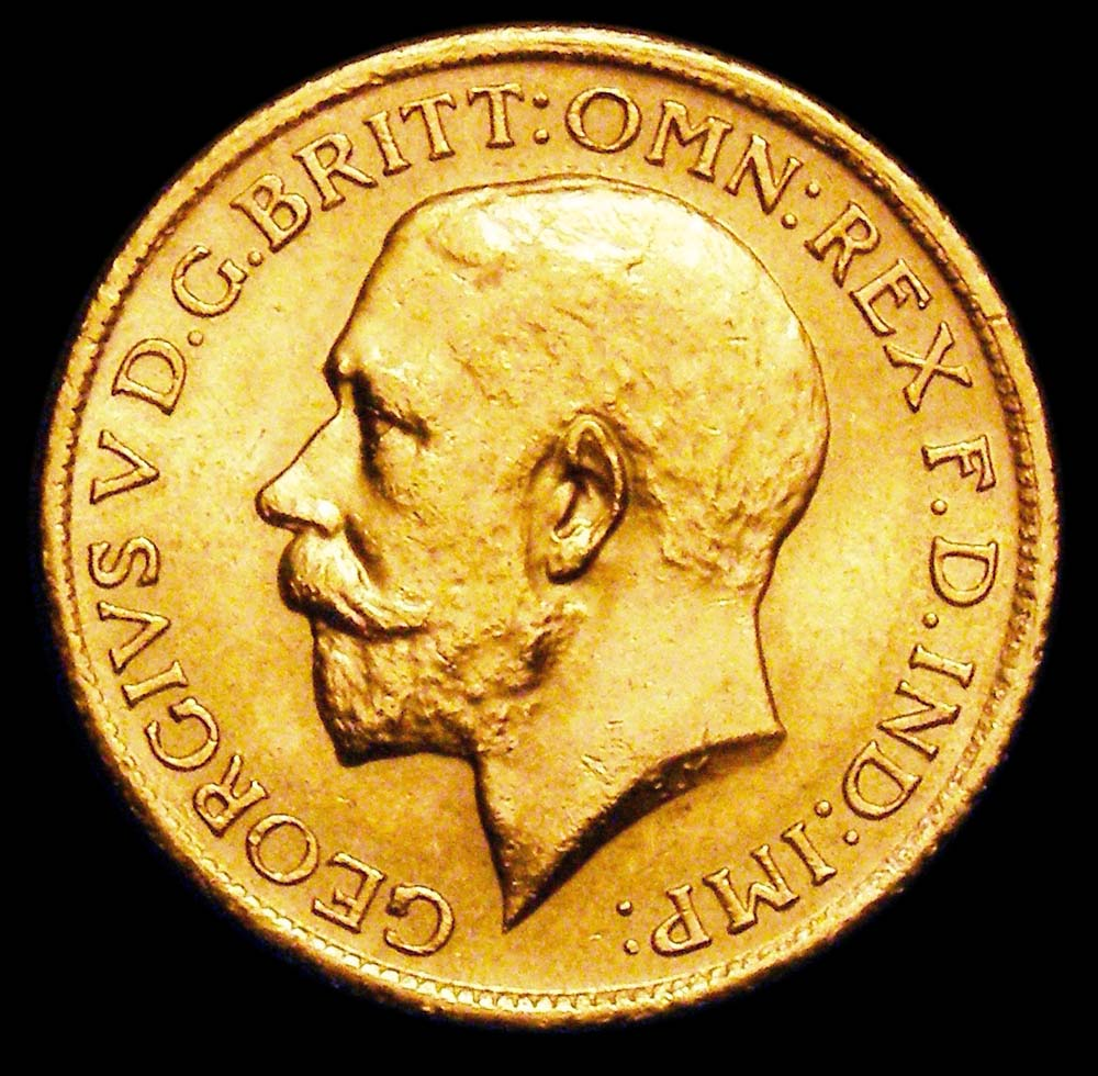 Gold Sovereign George V 1921